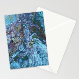 Organic Blues Stationery Cards