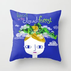 Head in the Cloud Forest Throw Pillow