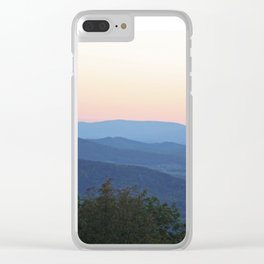Mountain Blues Clear iPhone Case