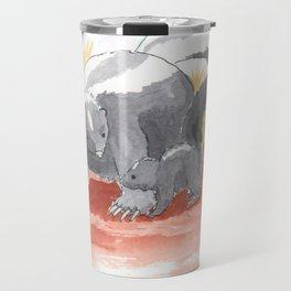 Skunk Mother and Baby Travel Mug