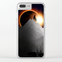 WTF ECLIPSE Clear iPhone Case