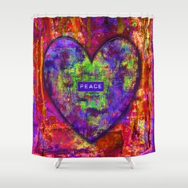 HEARTFUL OF PEACE Shower Curtain