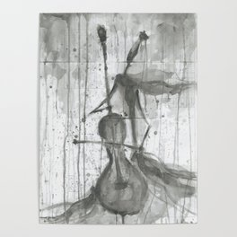 "CELLO. A SERIES OF WORKS ""MUSIC OF THE RAIN"" Poster"