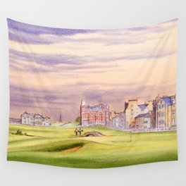 St Andrews Golf Course Scotland 17th Green Wall Tapestry