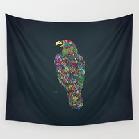 eagle Wall Tapestries featuring Eagle by Narek Gyulumyan
