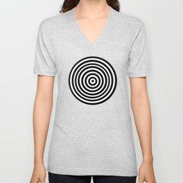 Circle Illusion Unisex V-Neck