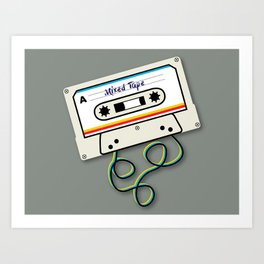 Mixed Tape Art Print