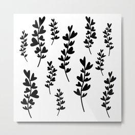 Plant doodles heart Metal Print