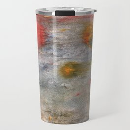Rosy brown clouded wash painting Travel Mug