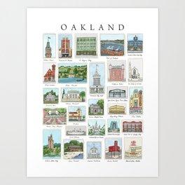 Oakland Landmarks Art Print