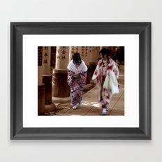 Geishas (Kyoto, Japan) Framed Art Print