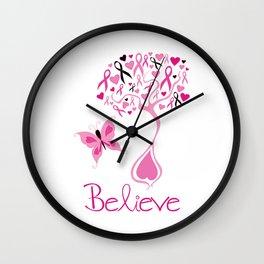 Breast Cancer Survivor Wall Clock