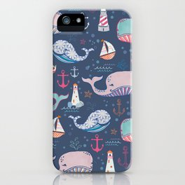 Whale Toss iPhone Case