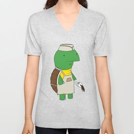 Turtle C-c-c-caffeinated Unisex V-Neck