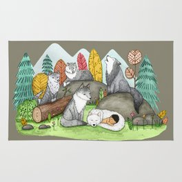 Raised by Wolves Rug