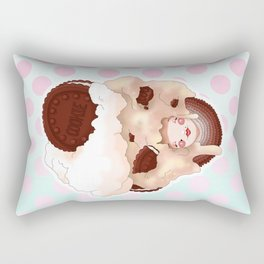Doll faced cookies n cream Rectangular Pillow