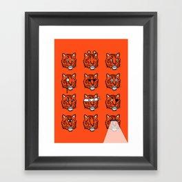 Eyes Of The Tiger Framed Art Print