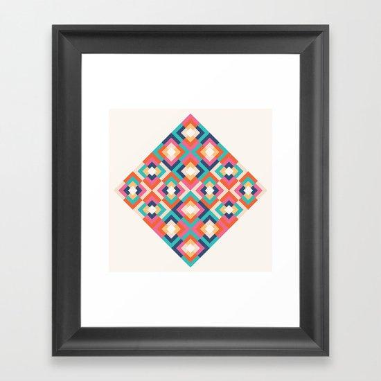 Colorful Geometric Framed Art Print
