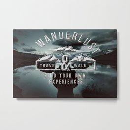 Wanderlust - Mountains and lake  - Photoadaption Metal Print