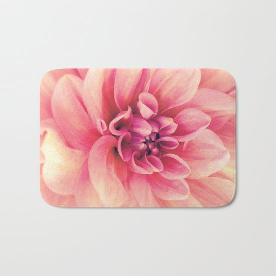 Her Smile (Spring Blooming Rose Pink Dahlia) Bath Mat