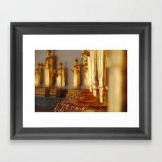 Golden Deities Framed Art Print