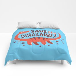 Save the Dinosaurs!  Comforters