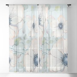 Summer Flowers #society6 #buyart Sheer Curtain