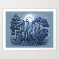 Stone Garden Art Print