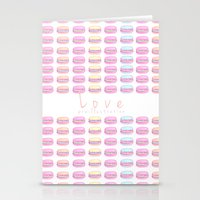 macaroon Stationery Cards featuring Love Macaroon by Praillustration