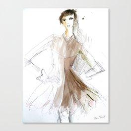 Swing Coat Canvas Print