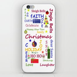 Christmas Message iPhone Skin