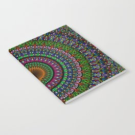 Hypnotic Church Window Mandala Notebook