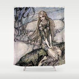 "Arthur Rackham Fairy Art from ""Undine"" Shower Curtain"