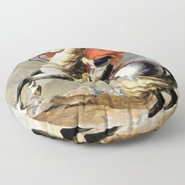 Napoleon Crossing The Alps - Digital Remastered Edition Floor Pillow