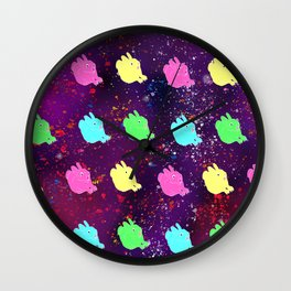 BUNNIES IN SPACE Wall Clock