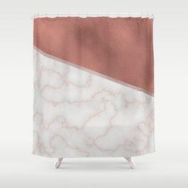 Lexington copper marble Shower Curtain