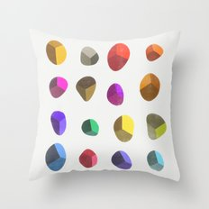 Painted Pebbles 2 Throw Pillow