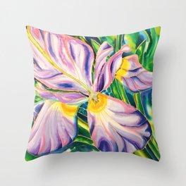 White Iris of Belize Throw Pillow