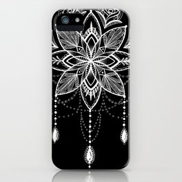 mandala jewels inverted iPhone Case