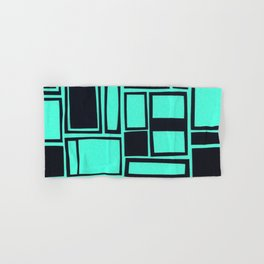 Windows & Frames - Teal Hand & Bath Towel