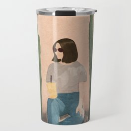 Waiting By Travel Mug