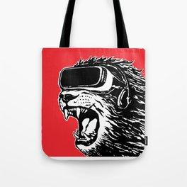 VR Lion Tote Bag