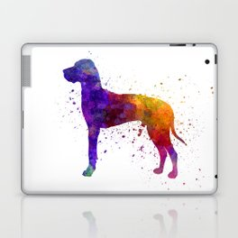Great Dane 01 in watercolor Laptop & iPad Skin