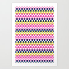COLOURFUL BLOCKS Art Print