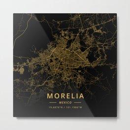 Morelia, Mexico - Gold Metal Print