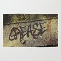 grease Area & Throw Rugs featuring Grease by Doug McRae