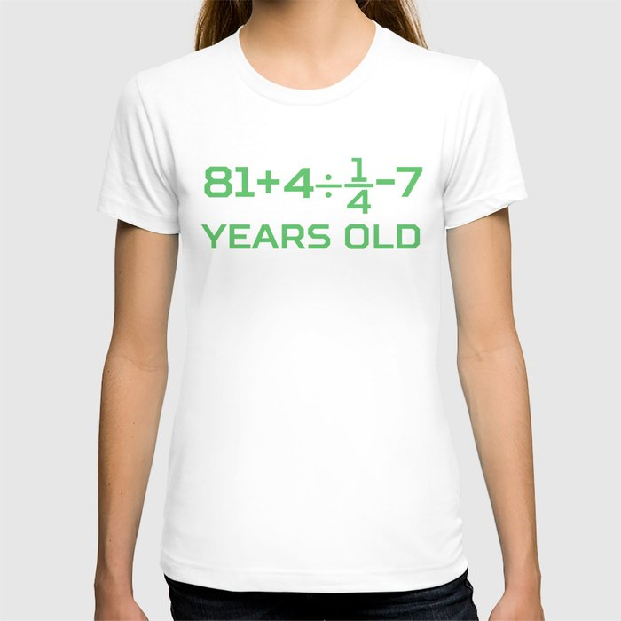 90 Years Old Math Equation Funny 90th Birthday T Shirt By Awesomeart