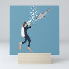 Scuba Diving with Seals Mini Art Print
