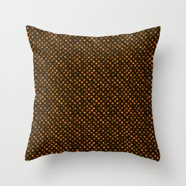 Retro Colored Dots Fabric Pumpkin Orange Throw Pillow