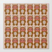 onesie Canvas Prints featuring Onesie by ziggystardust90